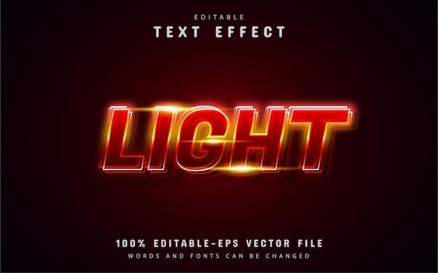Efekt tekstu czerwonego światła