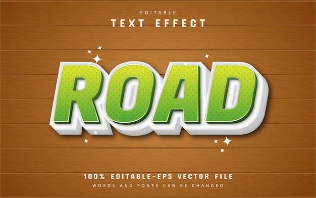 Efekt tekstu drogowego