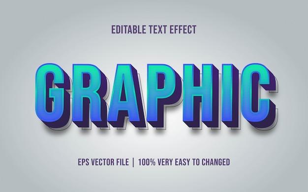 Efekt tekstu graficznego edytowalny styl czcionki
