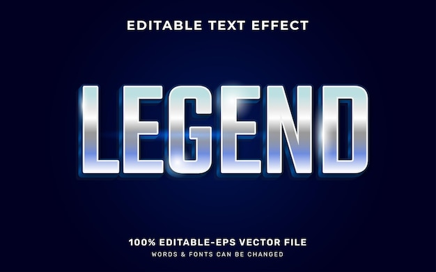 Efekt tekstu legendy