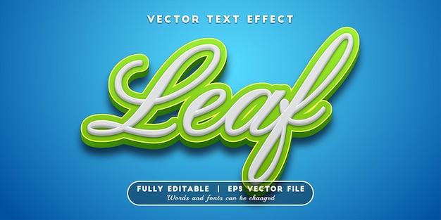 Efekt tekstu liścia, edytowalny styl tekstu