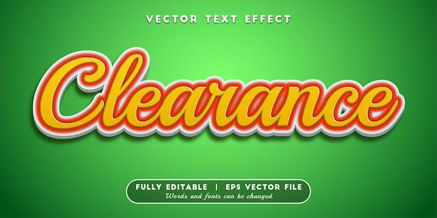 Efekt tekstu luzu, edytowalny styl tekstu