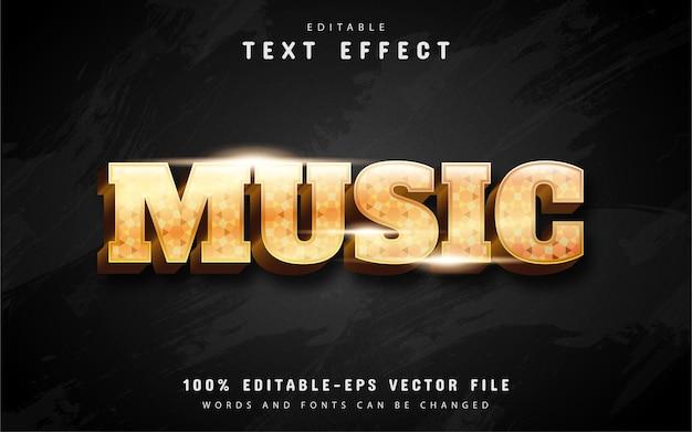 Efekt tekstu muzycznego w kolorze złotym