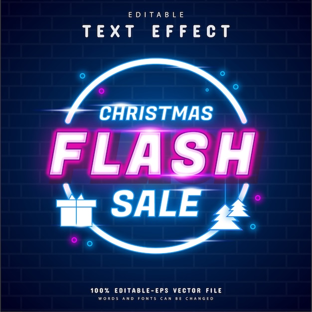 Efekt tekstu neonowego sprzedaży flash