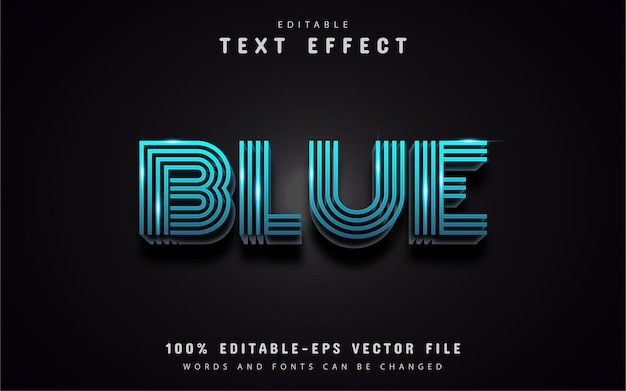 Efekt tekstu niebieskiej linii