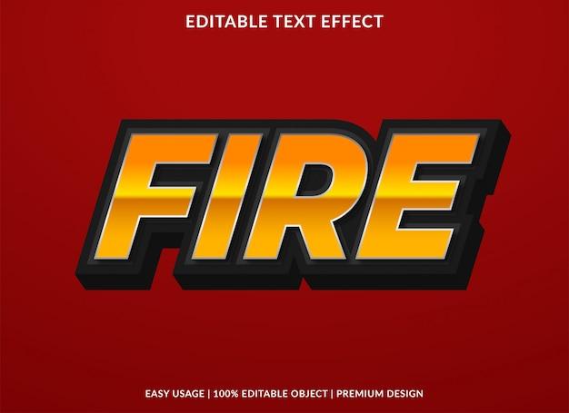 Efekt tekstu ognia