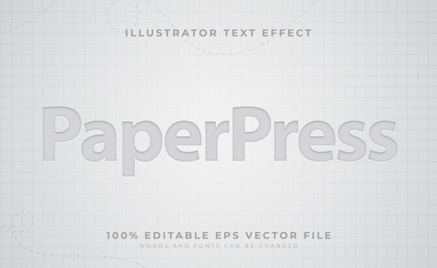 Efekt tekstu papierowego
