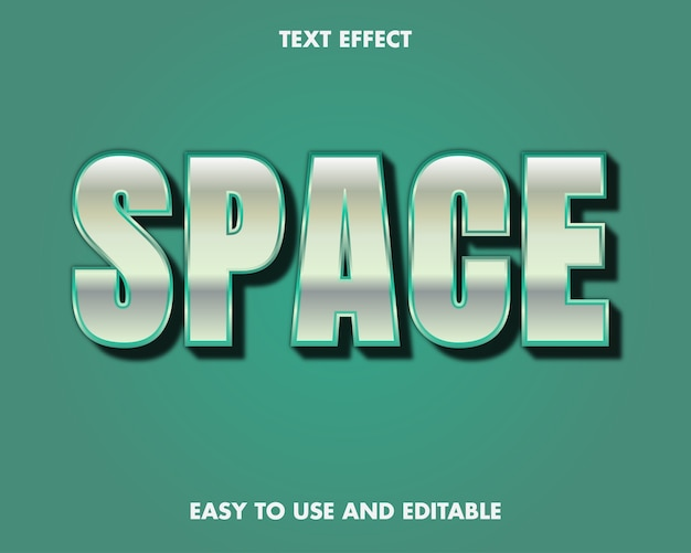 Efekt tekstu przestrzennego. edytowalny styl czcionki.