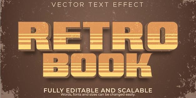 Efekt Tekstu Retro, Vintage, Edytowalny Styl Tekstu Z Lat 70. I 80. Darmowych Wektorów