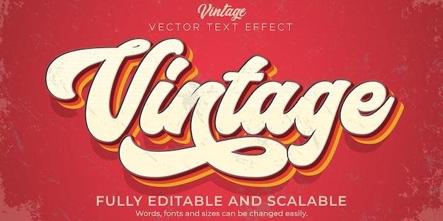 Efekt Tekstu Retro, Vintage, Edytowalny Styl Tekstu Z Lat 70. I 80. Premium Wektorów