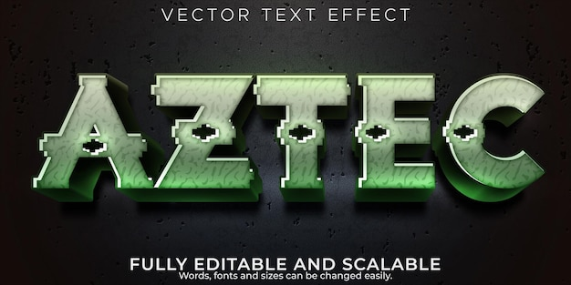 Efekt tekstu ruiny azteków, edytowalny styl tekstu maya i peru