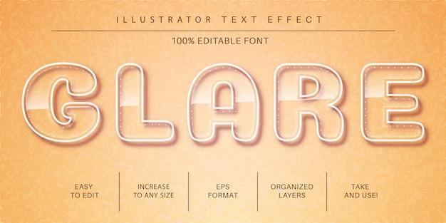 Efekt tekstu szkła, styl czcionki