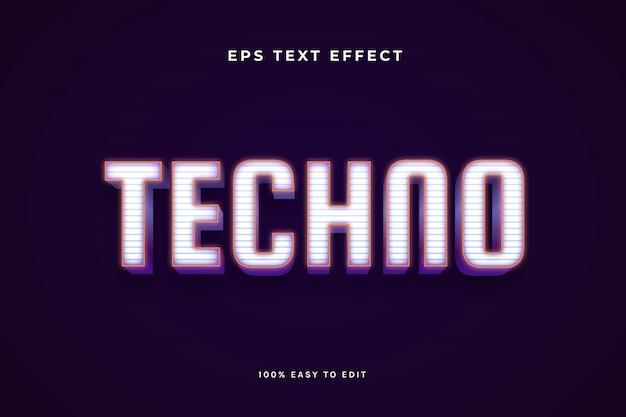 Efekt tekstu techno