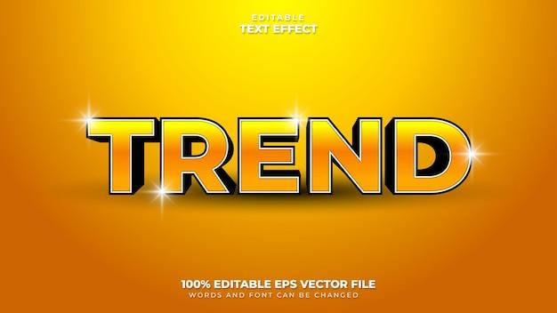 Efekt tekstu trendu