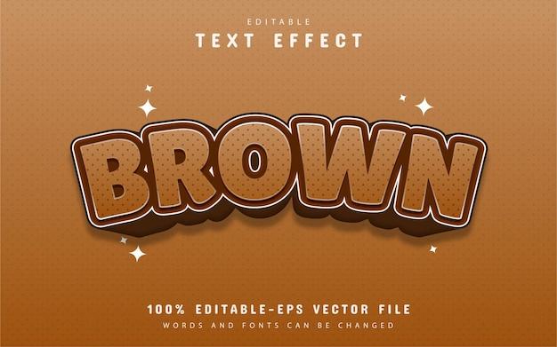 Efekt tekstu w kolorze brązowym
