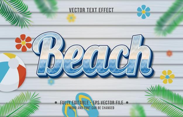 Efekt tekstu w stylu gradientu plaży z tłem tematu sezonu letniego