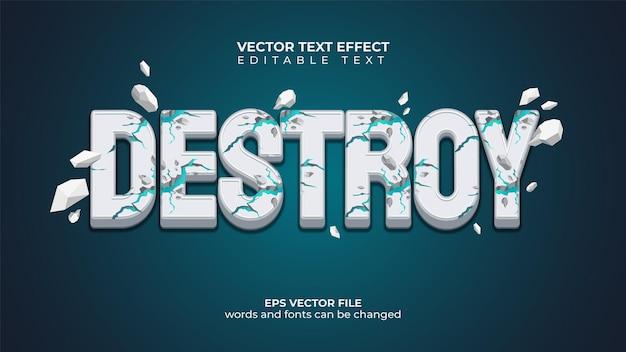 Efekt tekstu wektorowego koncepcja pękania i rozpraszania