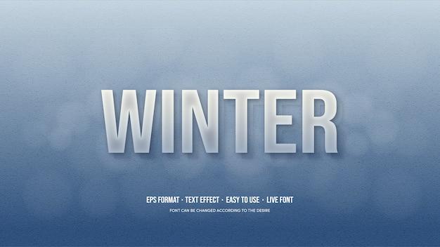 Efekt tekstu wektorowego z lodowo-niebieskimi odcieniami.