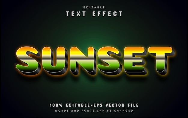Efekt tekstu zachodu słońca z gradientem
