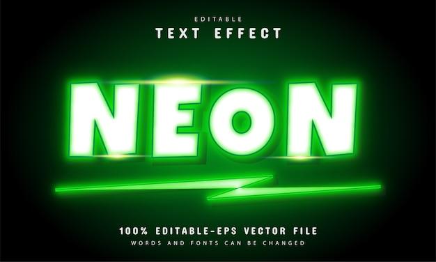 Efekt tekstu zielonego neonu
