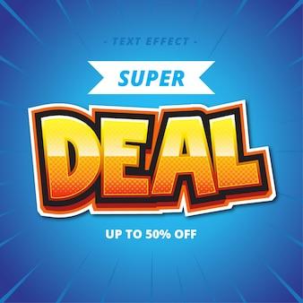 Efekt w stylu tekstowym super deal