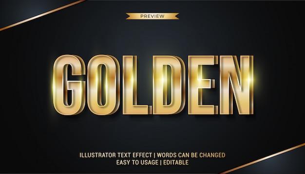 Efekt wytłoczonego złotego tekstu
