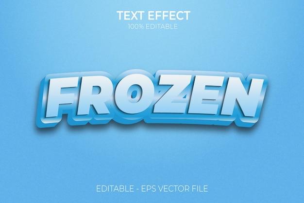 Efekt zamrożonego tekstu nowy kreatywny wektor premium z pogrubionym tekstem 3d do edycji