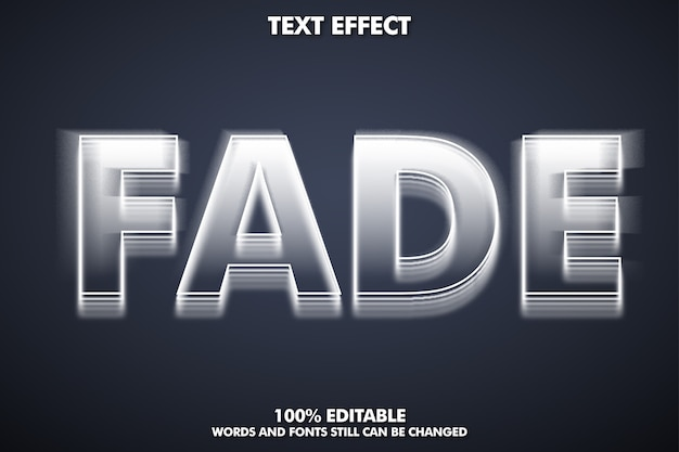 Efekt zanikania tekstu, edytowalna czcionka