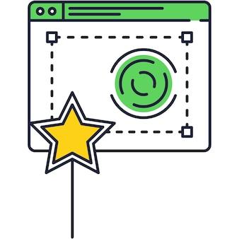 Efekt zdjęcia aparatu lub ikona wektora filtra