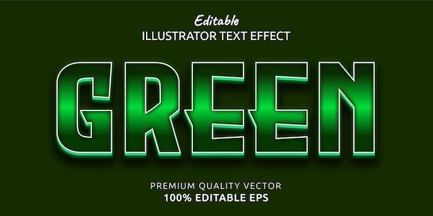 Efekt zielonego edytowalnego stylu tekstu