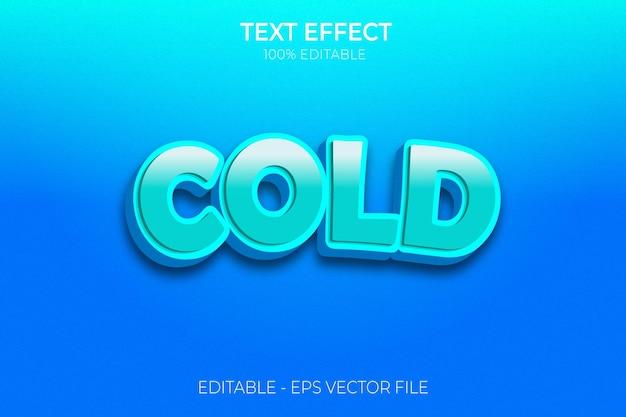 Efekt zimnego tekstu nowy wektor premium z pogrubionym tekstem creative 3d editable