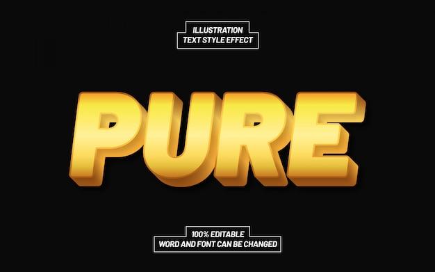 Efekt złotego czystego stylu tekstu