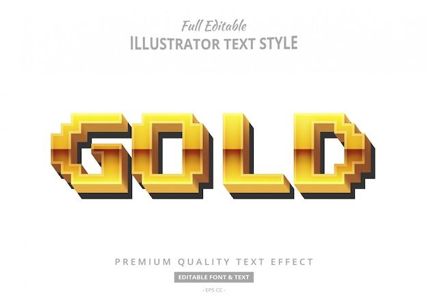 Efekt złotego stylu tekstu 3d