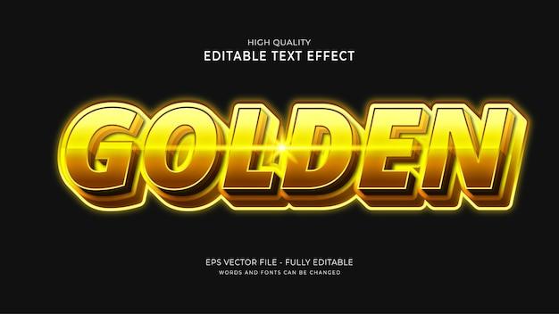 Efekt złotego stylu tekstu. edytowalny efekt czcionki.
