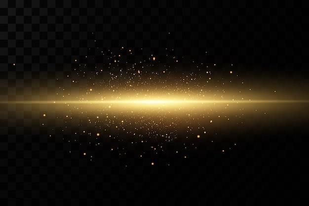 Efekt złotego światła streszczenie wiązka światła lasera chaotyczne neonowe promienie światła