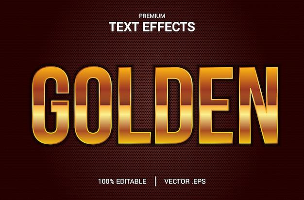 Efekt złotego tekstu, ustaw elegancki streszczenie efekt złotego tekstu, efekt edytowalnej czcionki w stylu złotego tekstu