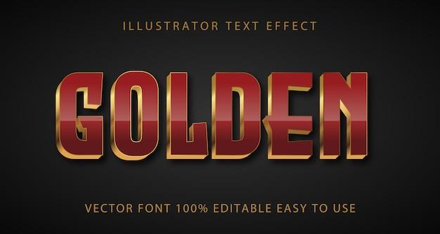 Efekt złotego tekstu w pełni edytowalny