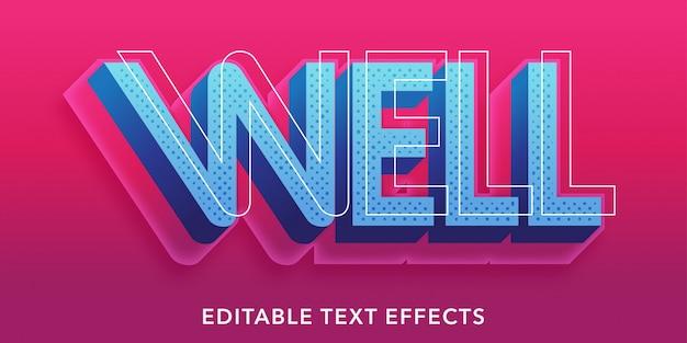 Efekty 3d edytowalnego stylu tekstu