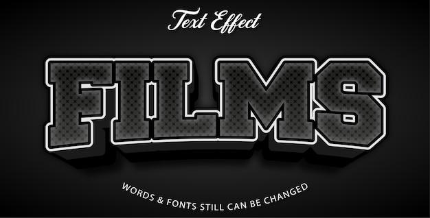 Efekty edytowalnego tekstu filmów