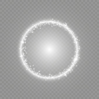 Efekty świetlne flary soczewki optycznej.
