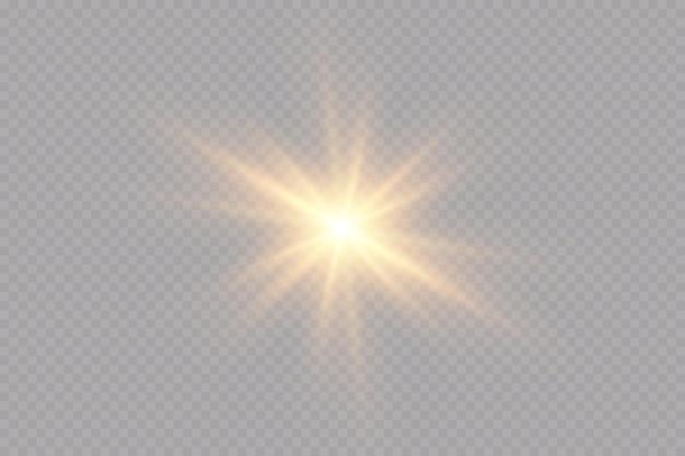 Efekty świetlne ustawiają złote gwiazdki rozświetlające cząsteczki bokeh
