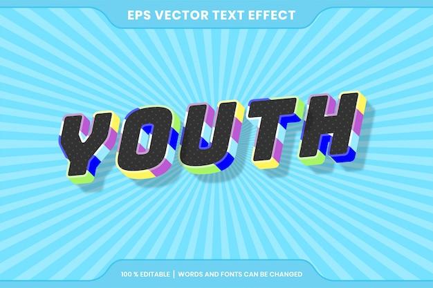 Efekty tekstowe edytowalne, słowa młodzieżowe