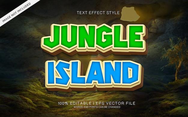 Efekty Tekstowe Na Wyspie Jungle Premium Wektorów