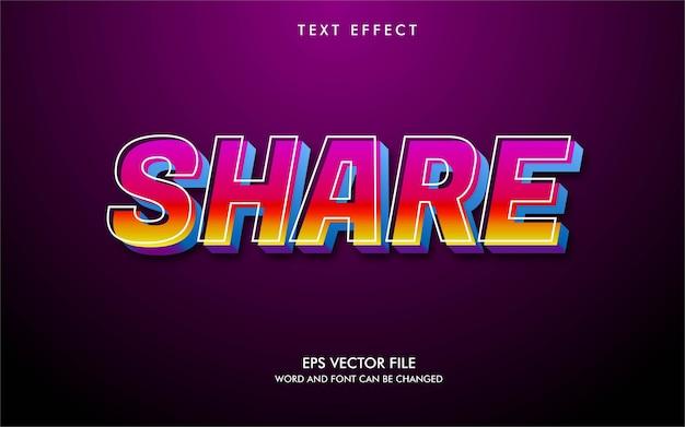 Efekty tekstowe technologia kolorowy tekst ilustracji wektorowych