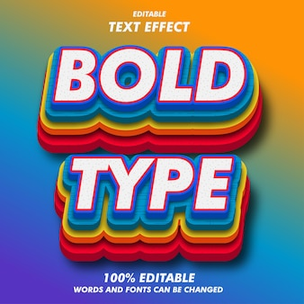 Efekty tekstu bold typu