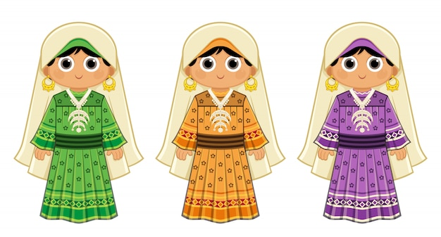 Egipska dziewczyna z el nuba w tradycyjnym stroju