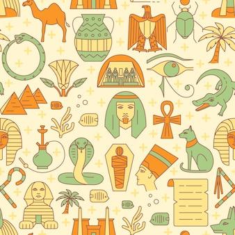 Egipt bezszwowy wzór