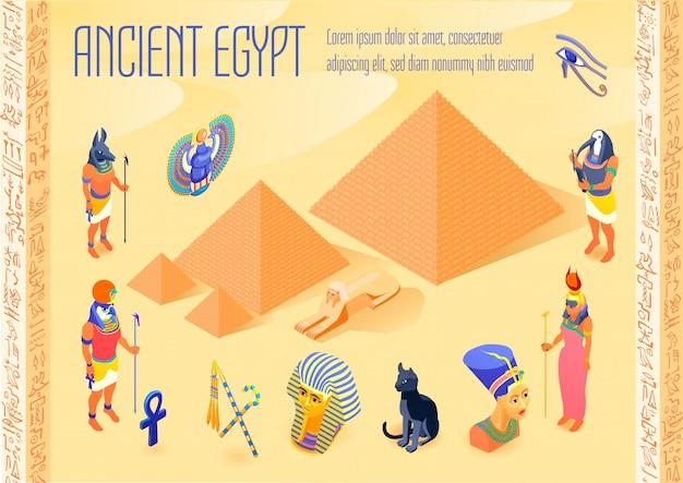 Egipt izometryczny ilustracja