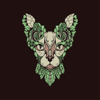 Egipt kot z liściami