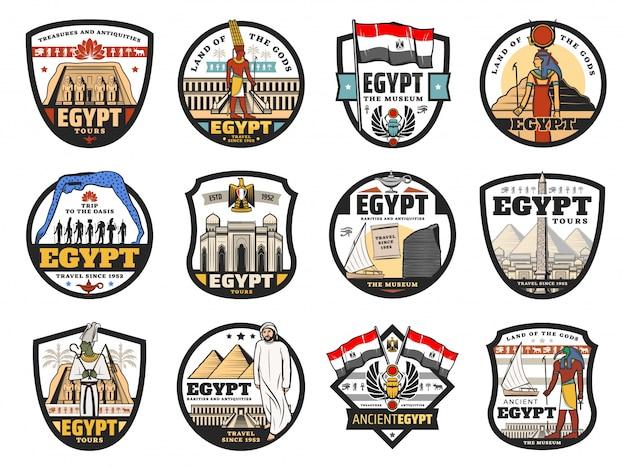 Egipt podróży, kultury i ikon religijnych